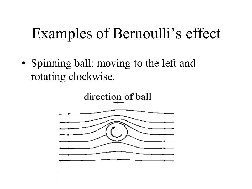 Examples of Bernoulli's effect