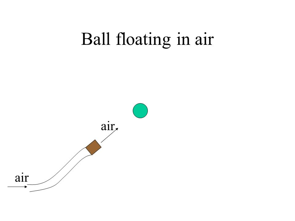 Ball floating in air air air