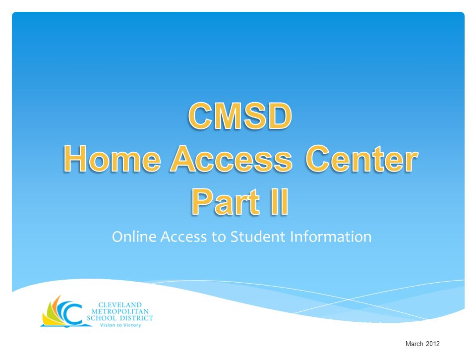 Online Access to Student Information