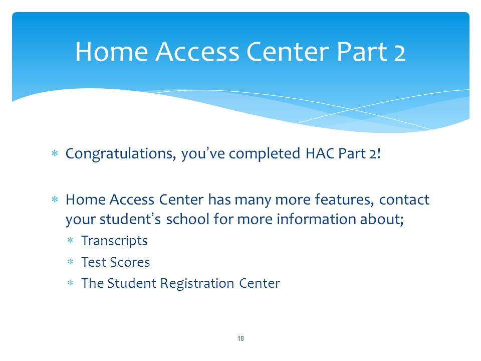 Home Access Center Part 2