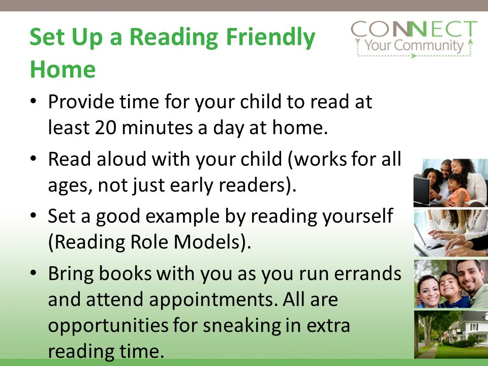 Set Up a Reading Friendly Home