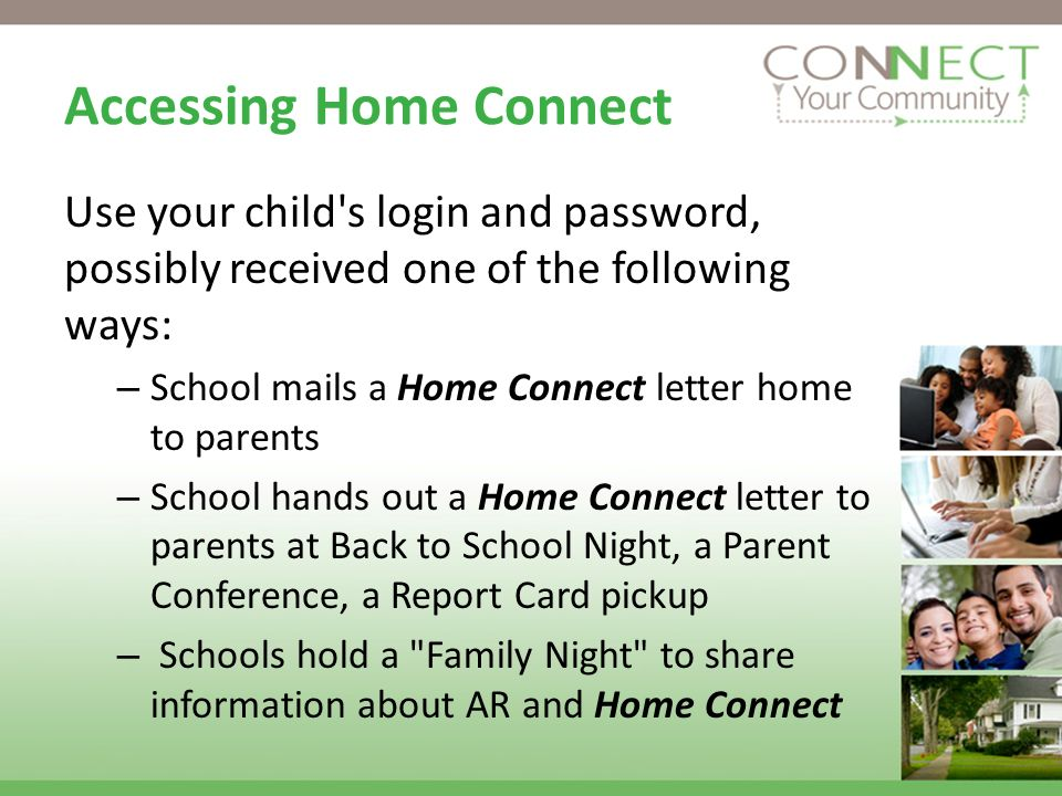 Accessing Home Connect