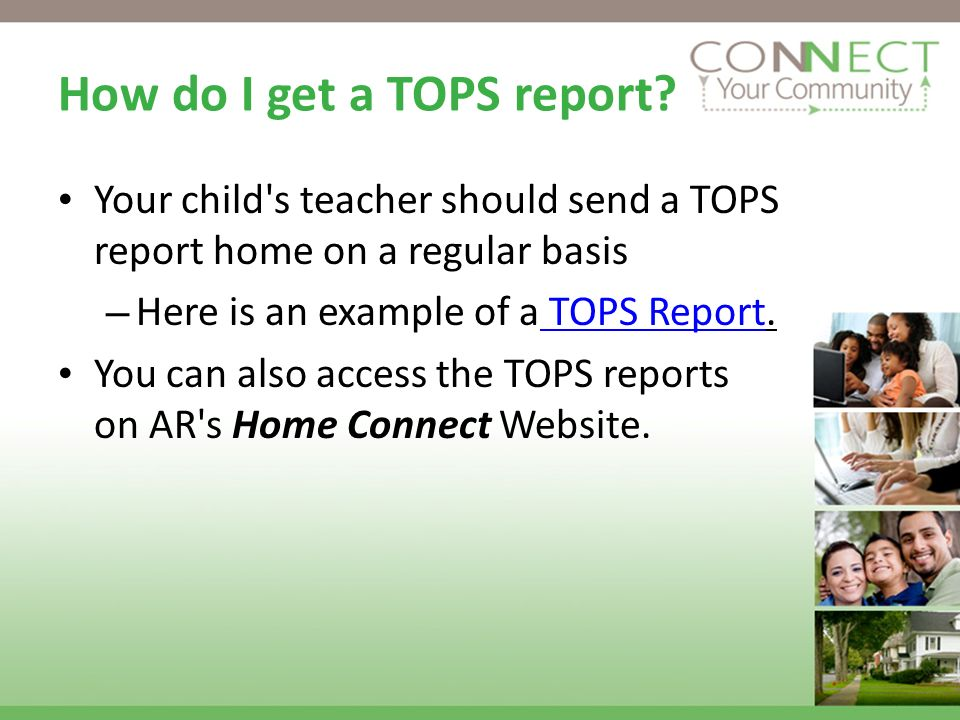 How do I get a TOPS report