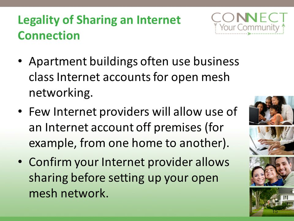 Legality of Sharing an Internet Connection