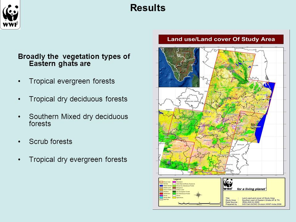 Results Broadly the vegetation types of Eastern ghats are