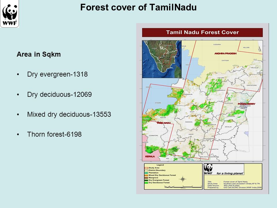 Forest cover of TamilNadu