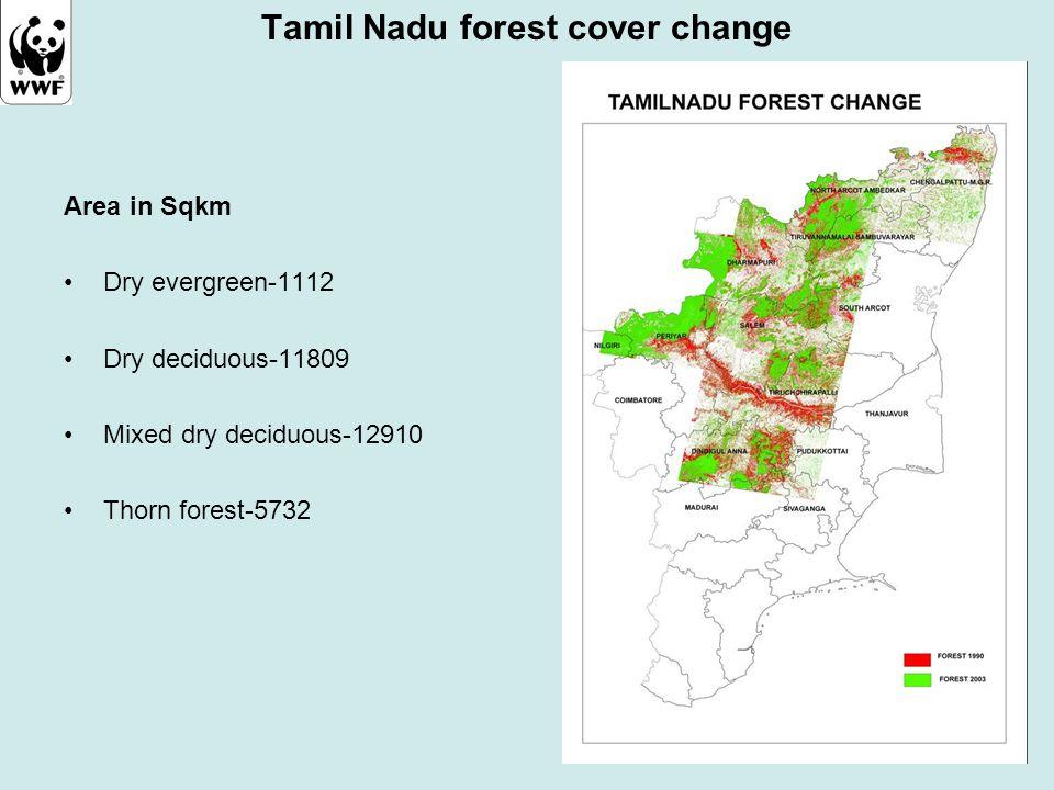 Tamil Nadu forest cover change