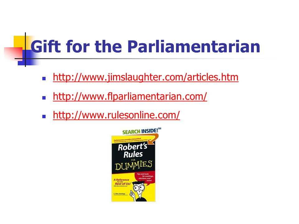 Gift for the Parliamentarian