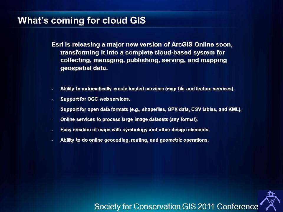 What's coming for cloud GIS