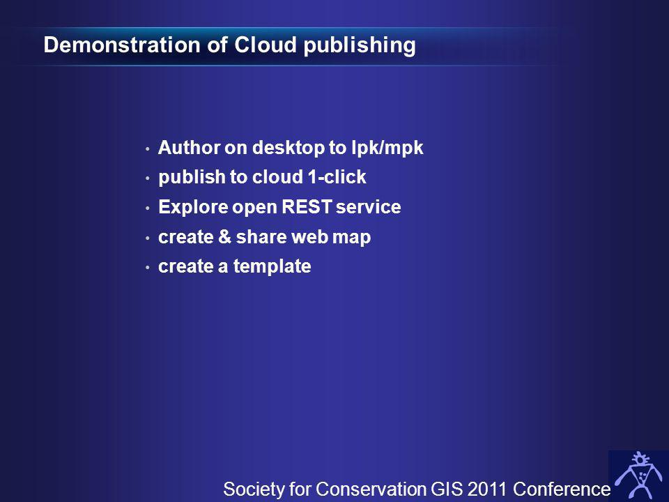 Demonstration of Cloud publishing