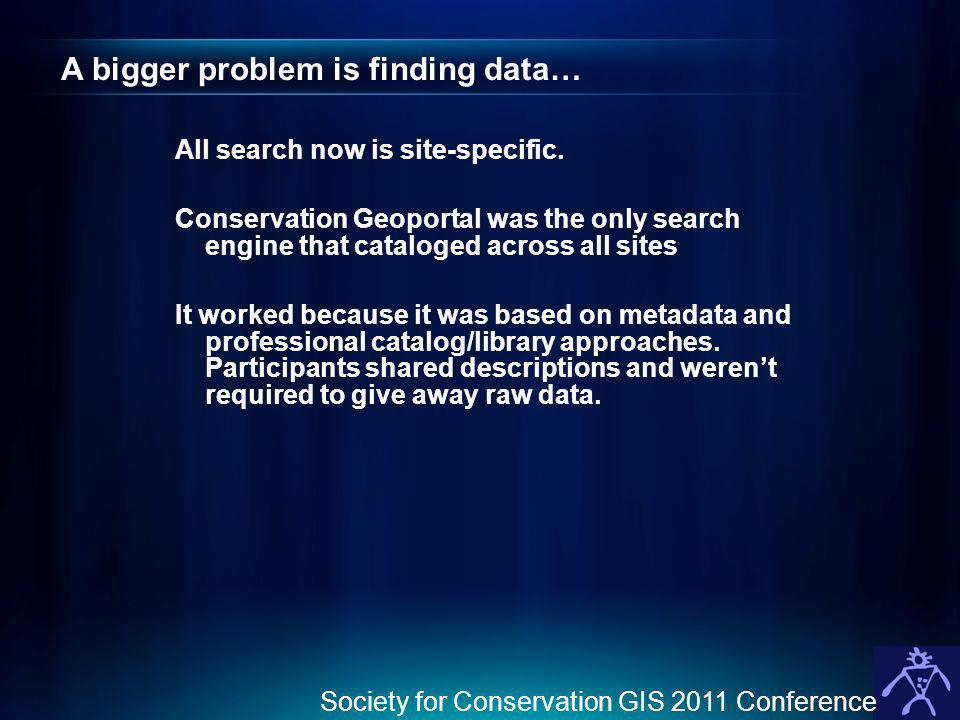 A bigger problem is finding data…