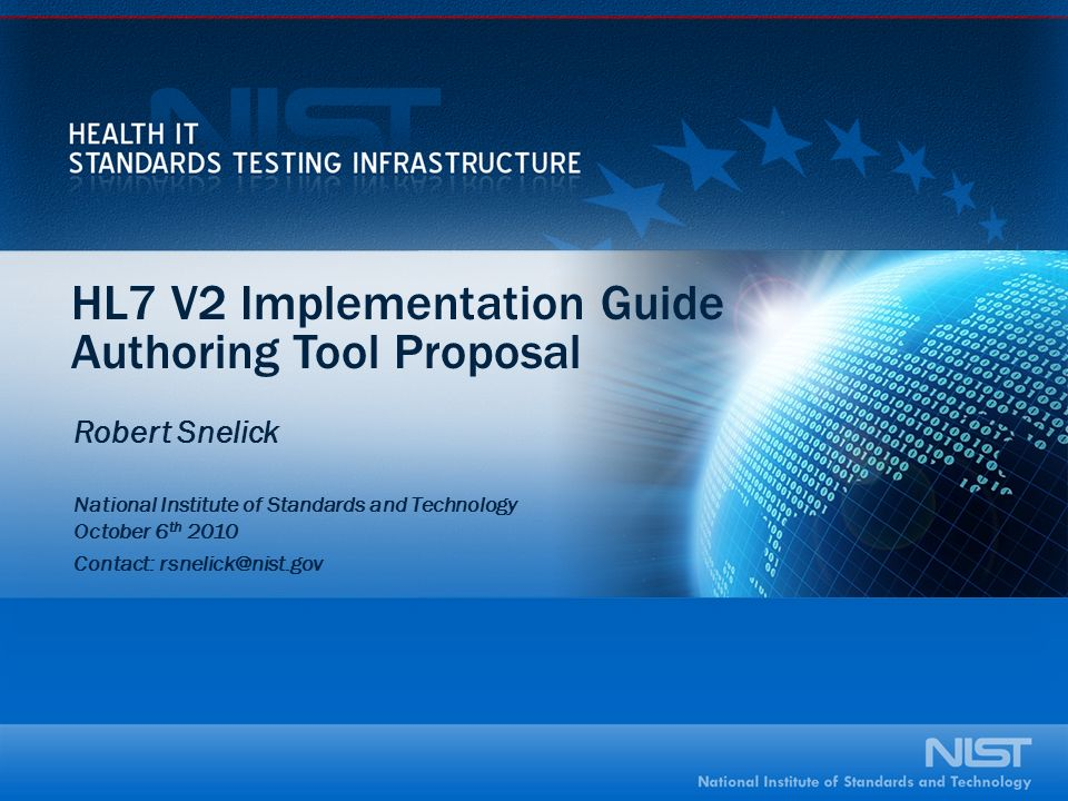 HL7 V2 Implementation Guide Authoring Tool Proposal