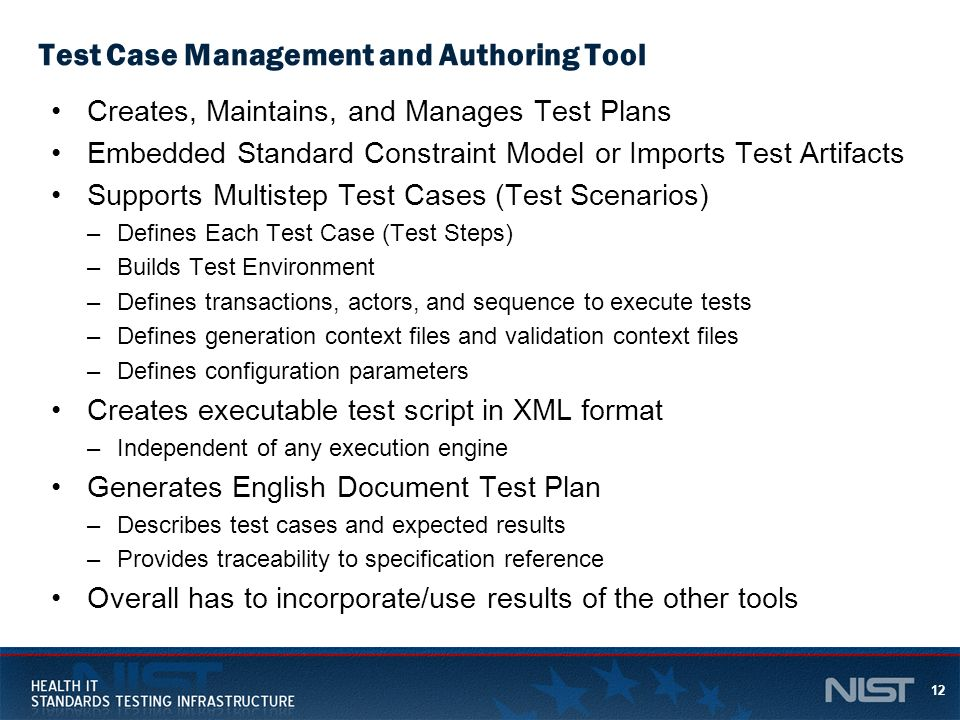Test Case Management and Authoring Tool