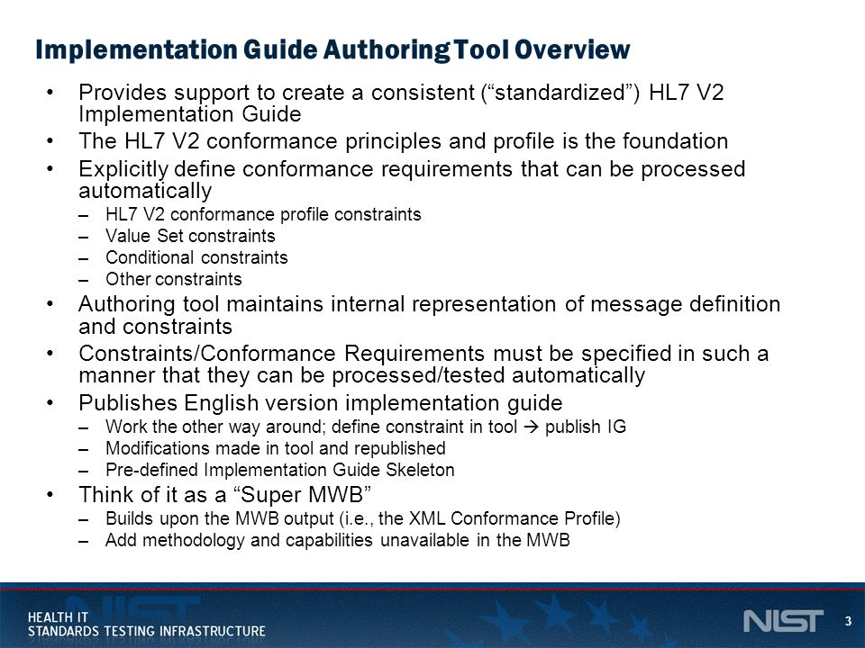 Implementation Guide Authoring Tool Overview