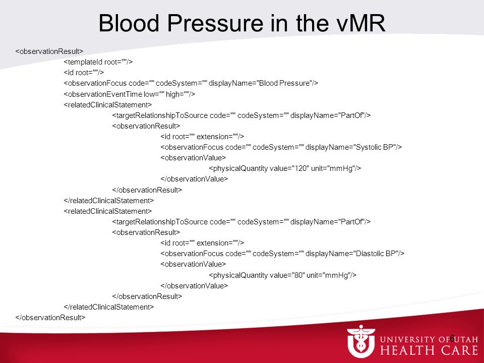Blood Pressure in the vMR