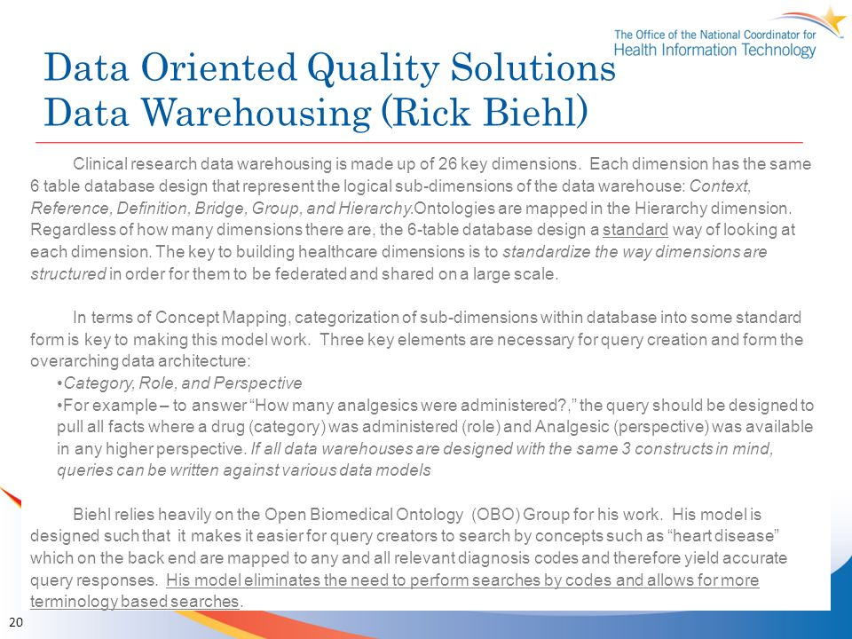 Data Oriented Quality Solutions Data Warehousing (Rick Biehl)