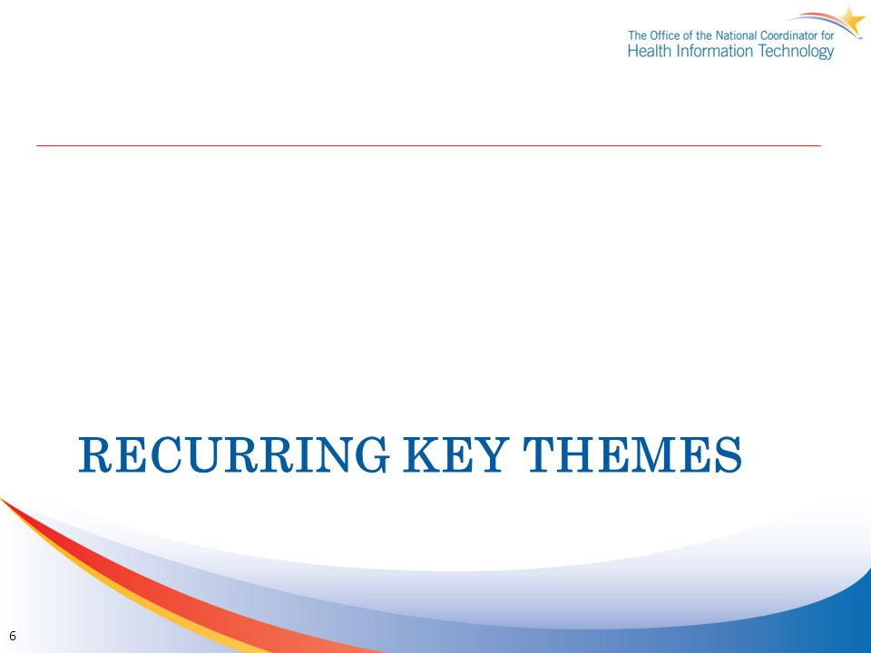 Recurring Key Themes