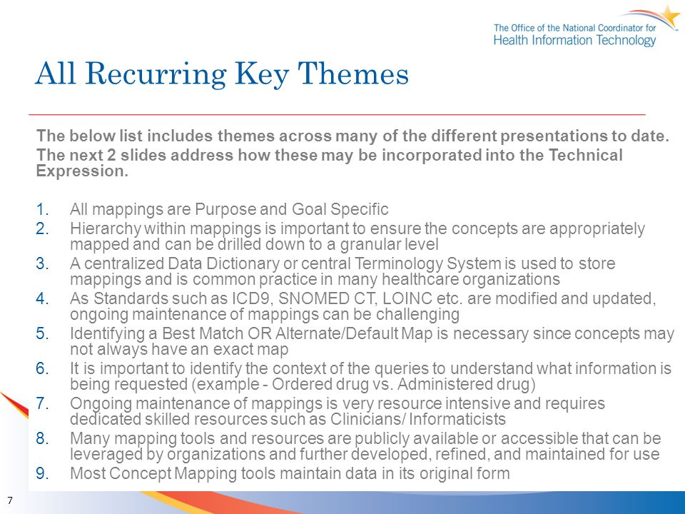 All Recurring Key Themes