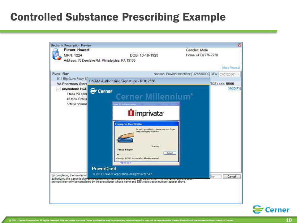 Controlled Substance Prescribing Example