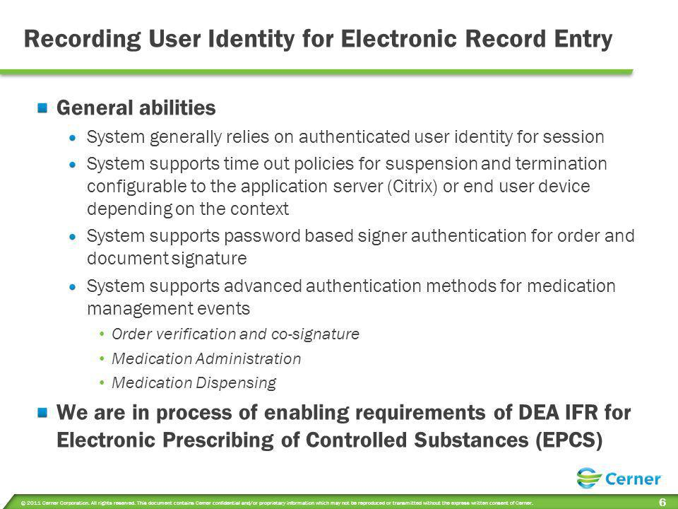 Recording User Identity for Electronic Record Entry