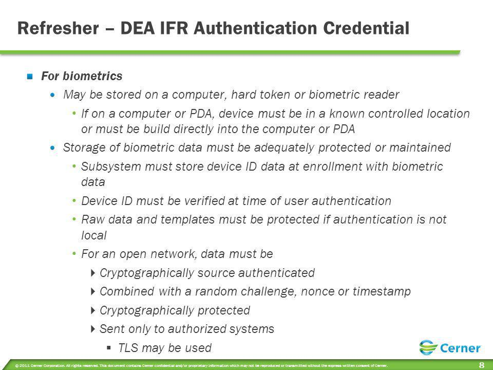 Refresher – DEA IFR Authentication Credential