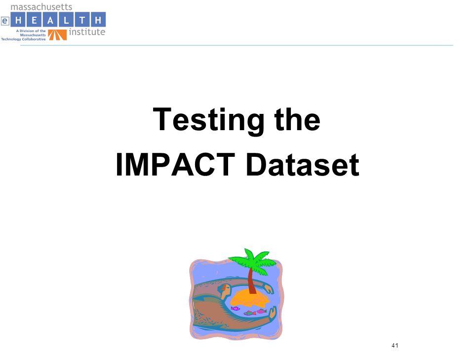 Testing the IMPACT Dataset