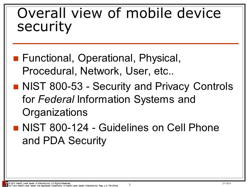 Overall view of mobile device security
