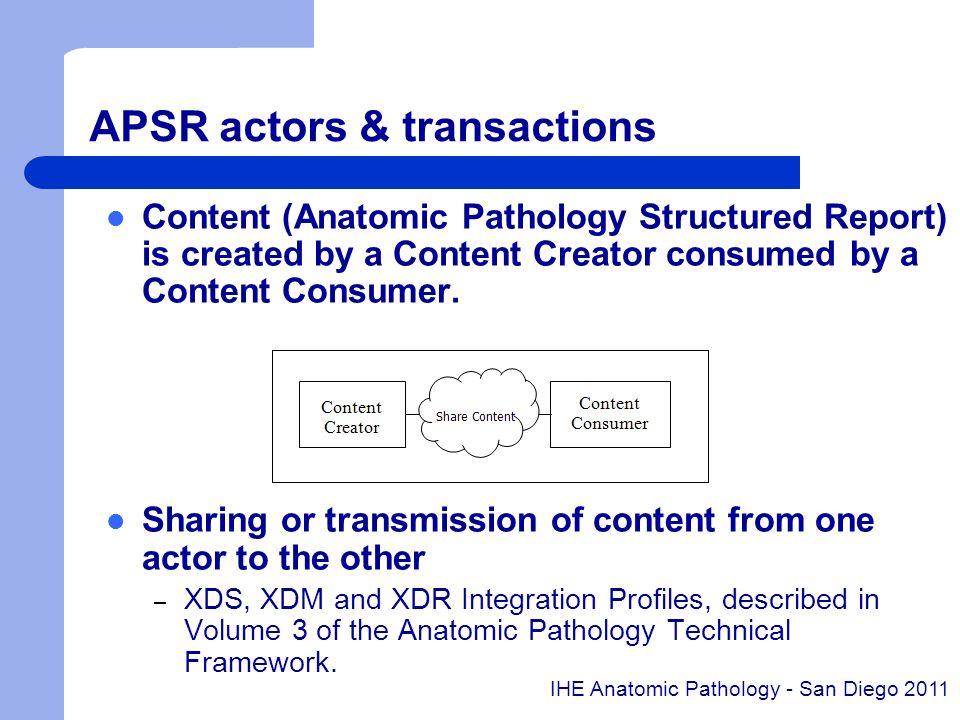 APSR actors & transactions