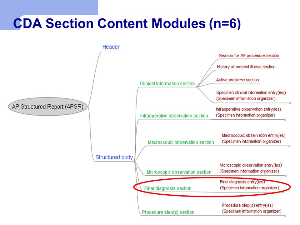 CDA Section Content Modules (n=6)