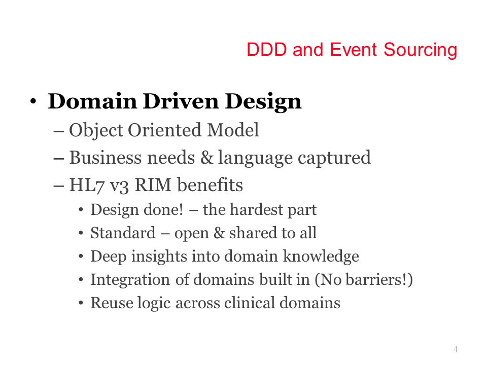Domain Driven Design DDD and Event Sourcing Object Oriented Model