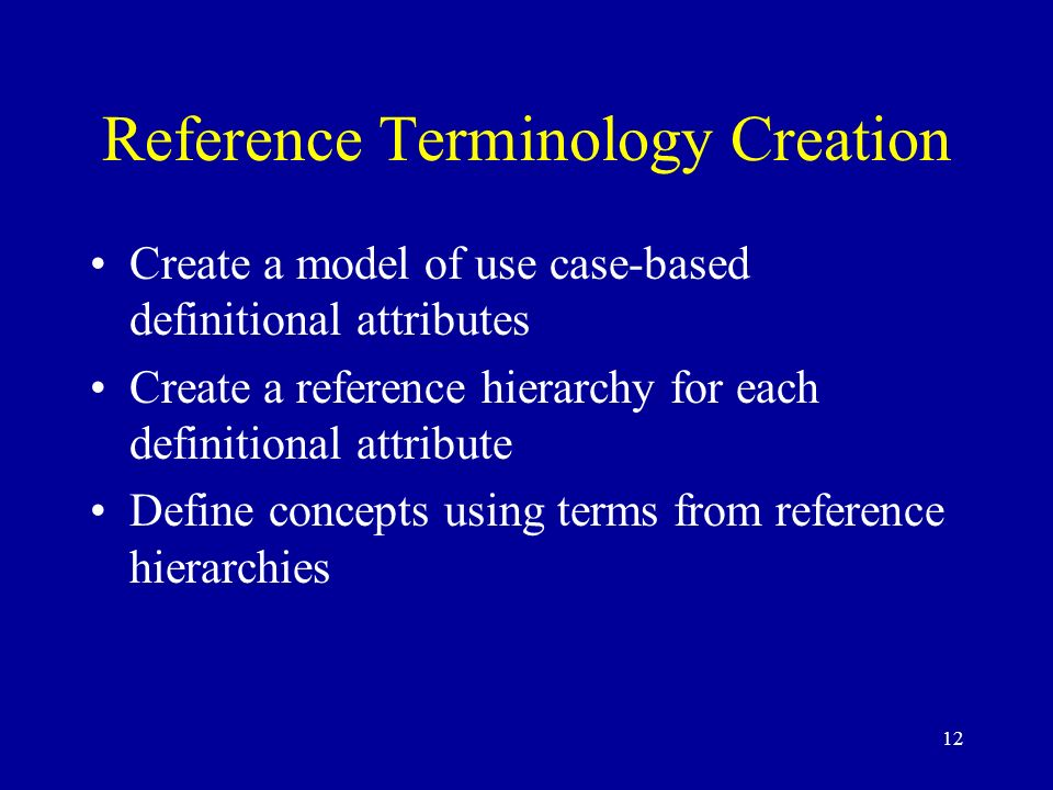Reference Terminology Creation