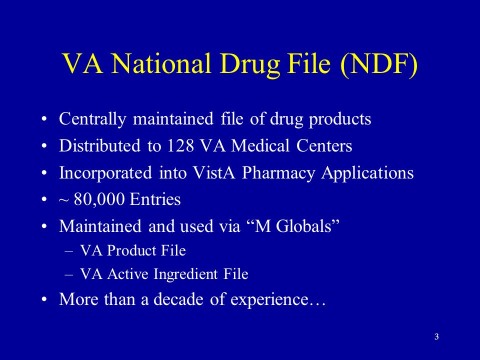 VA National Drug File (NDF)