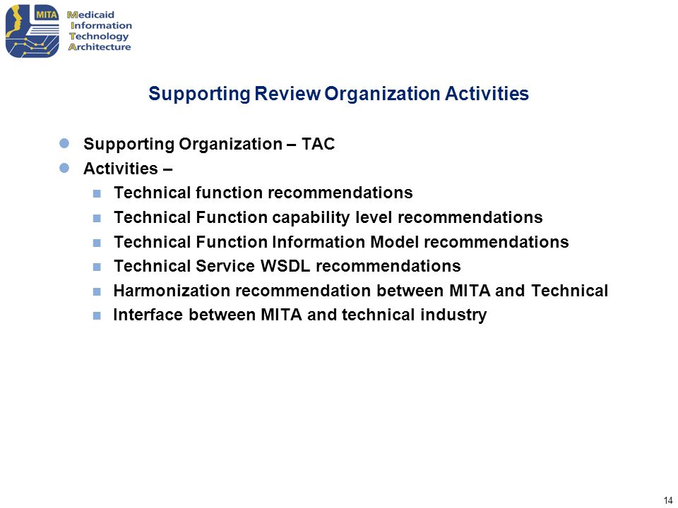 Supporting Review Organization Activities