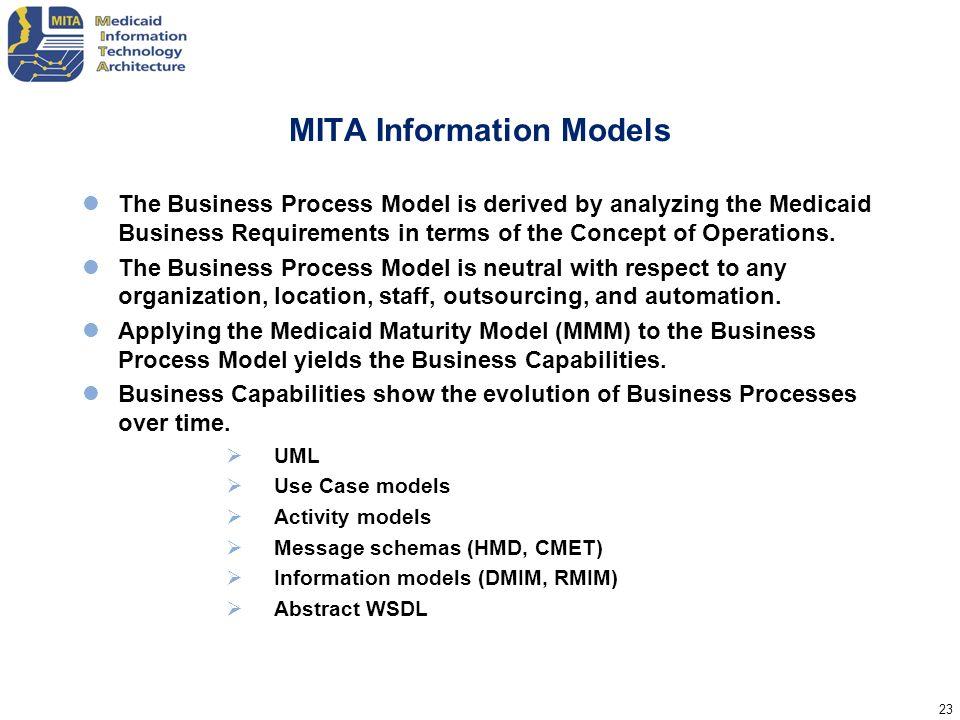MITA Information Models