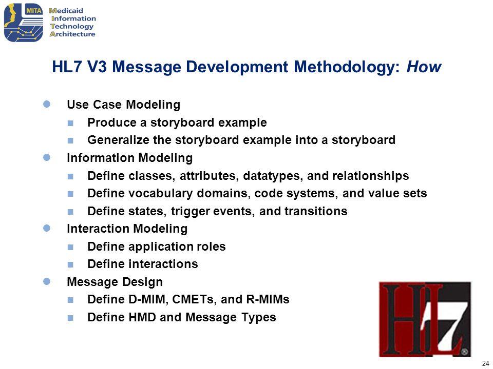 HL7 V3 Message Development Methodology: How