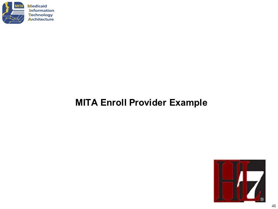 MITA Enroll Provider Example