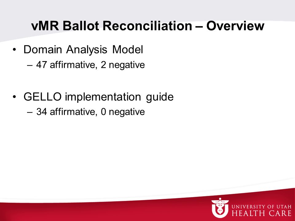 vMR Ballot Reconciliation – Overview