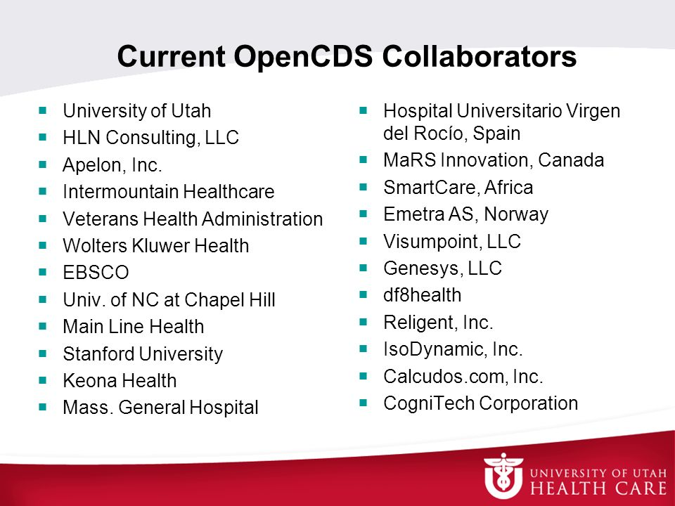 Current OpenCDS Collaborators