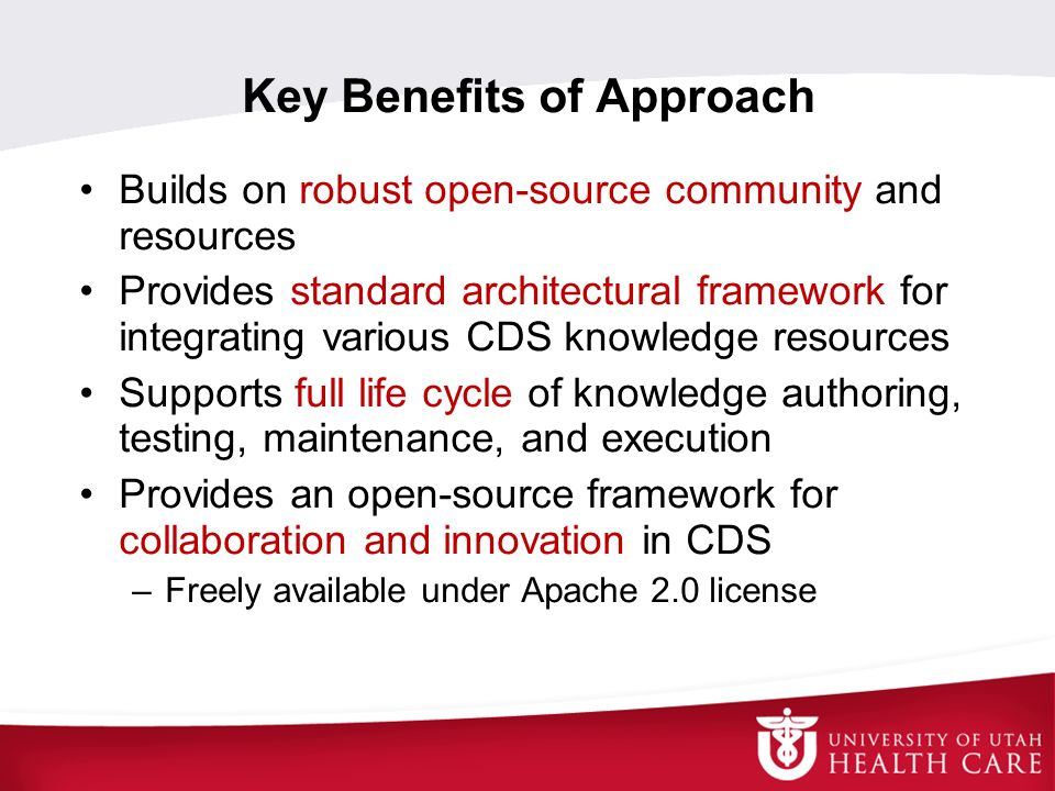 Key Benefits of Approach