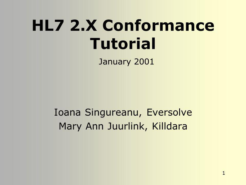 HL7 2.X Conformance Tutorial