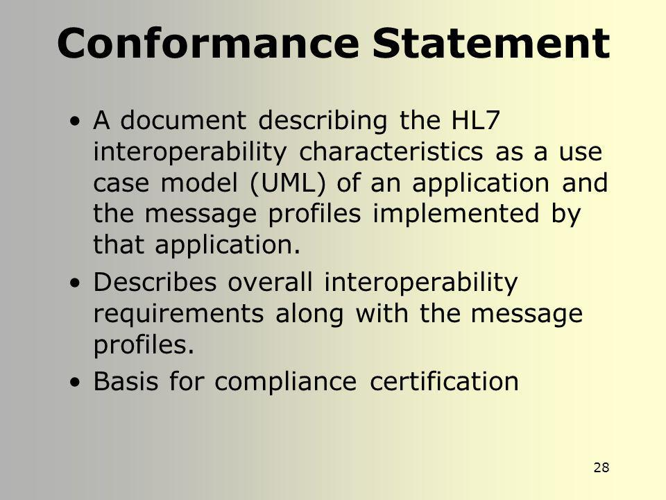 Conformance Statement