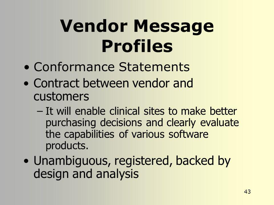 Vendor Message Profiles