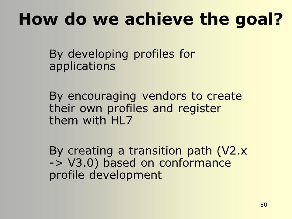 How do we achieve the goal