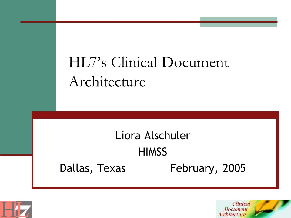 HL7's Clinical Document Architecture