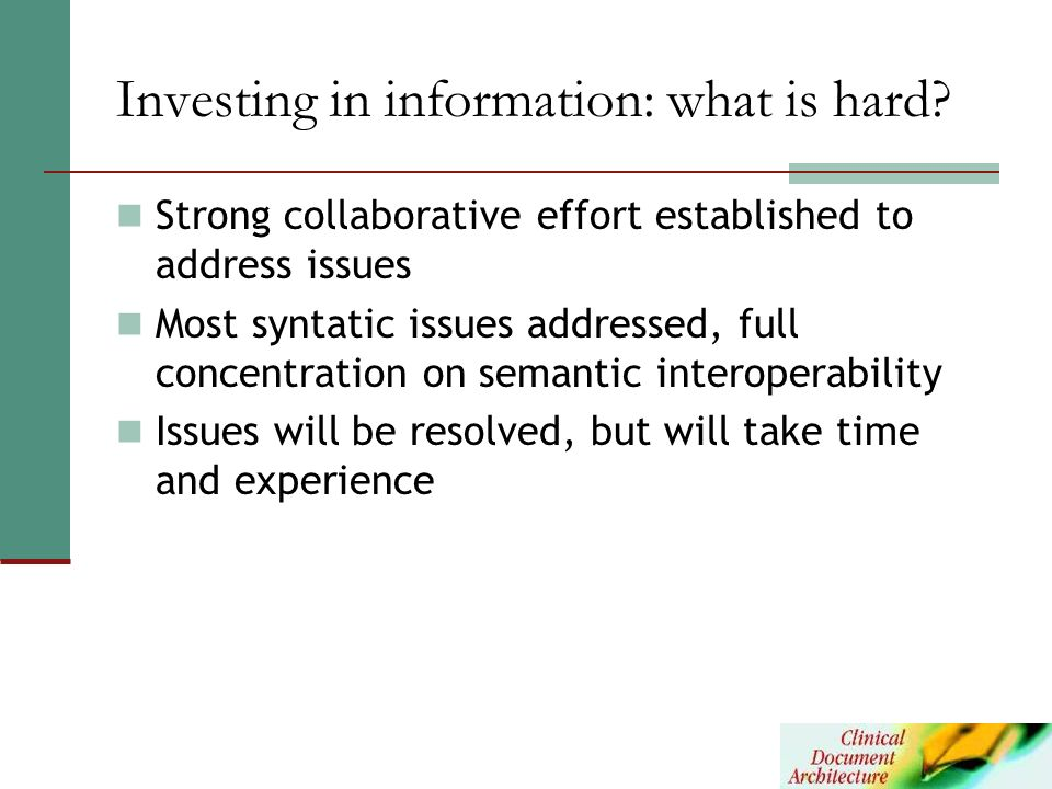 Investing in information: what is hard