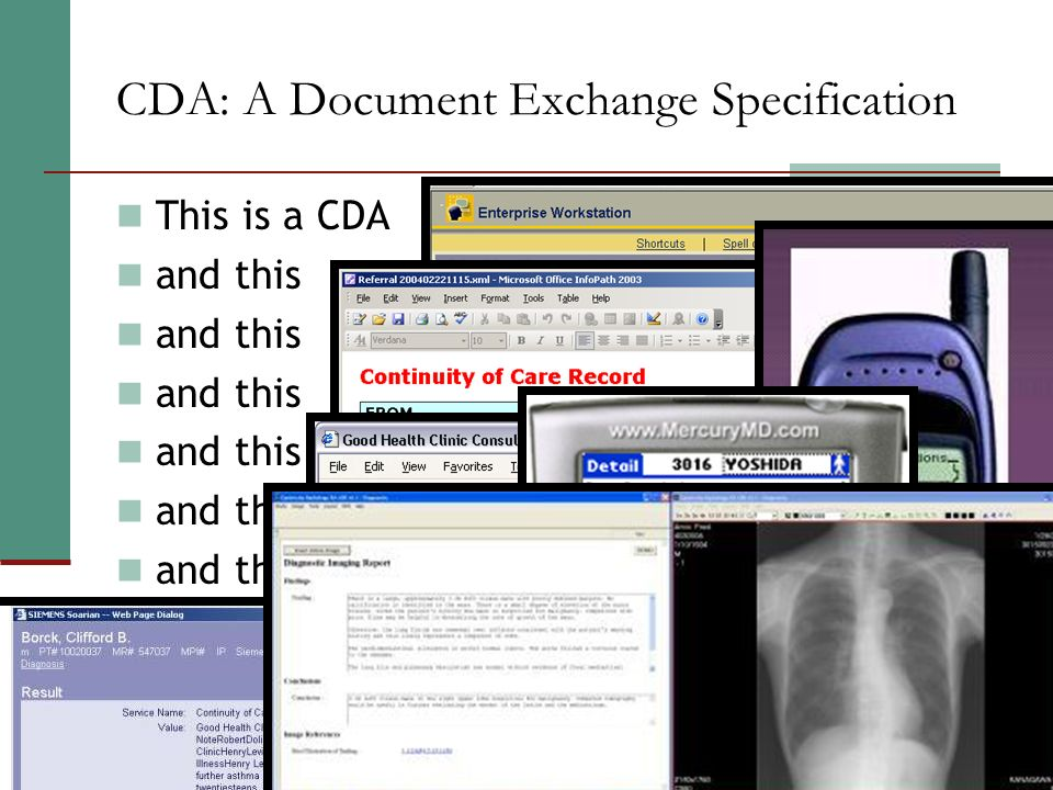 CDA: A Document Exchange Specification