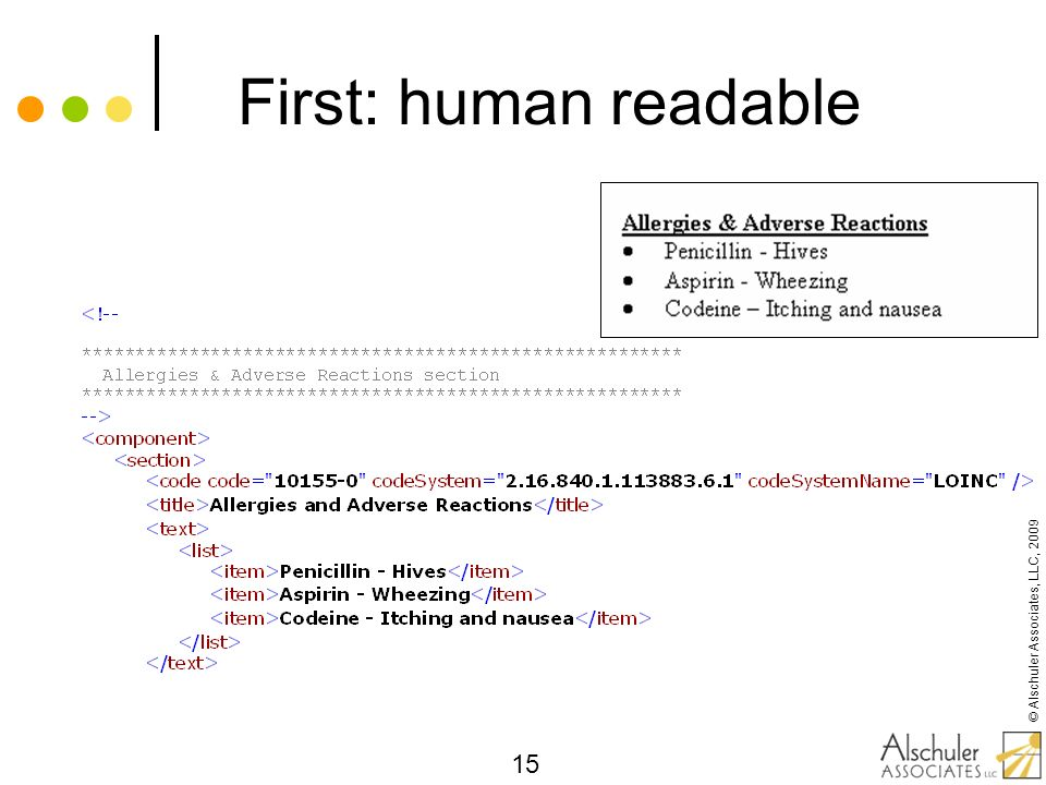 First: human readable