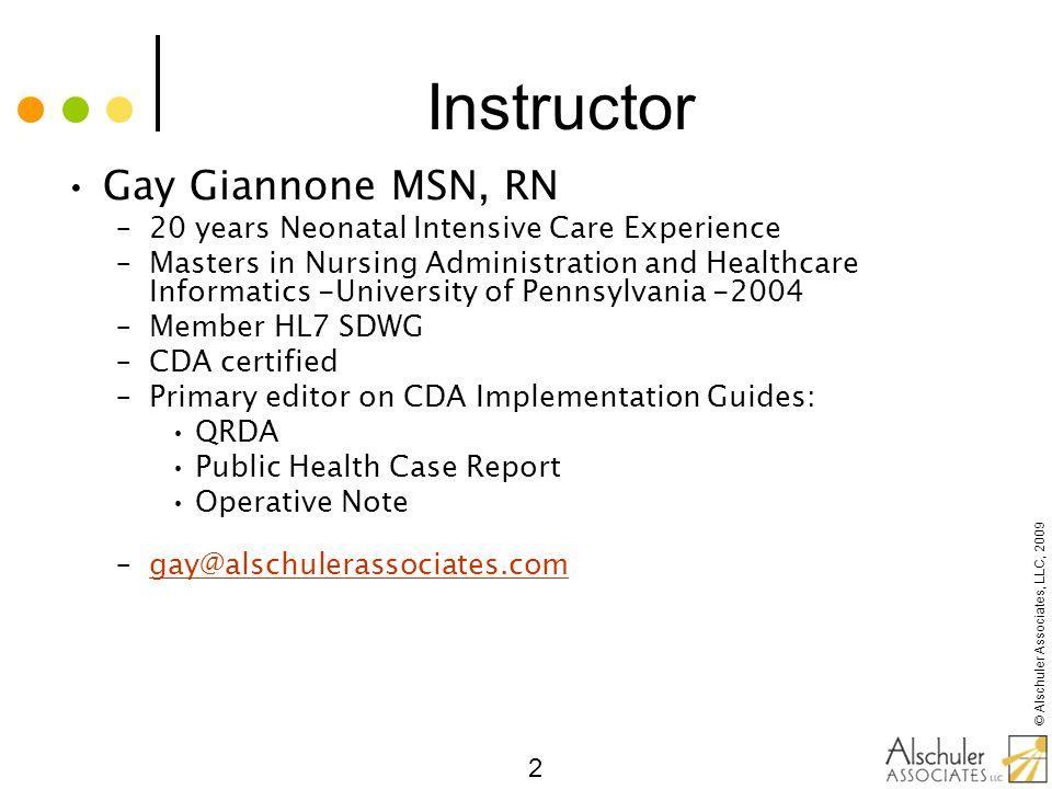 Instructor Gay Giannone MSN, RN