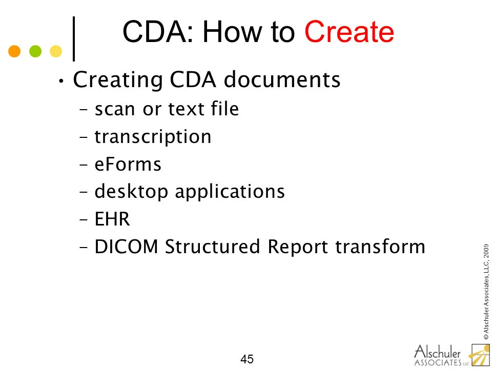 CDA: How to Create Creating CDA documents scan or text file