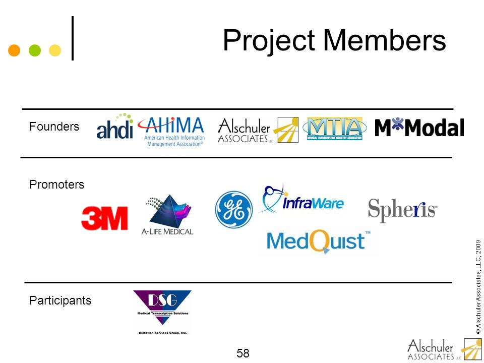 Project Members Founders Promoters Participants